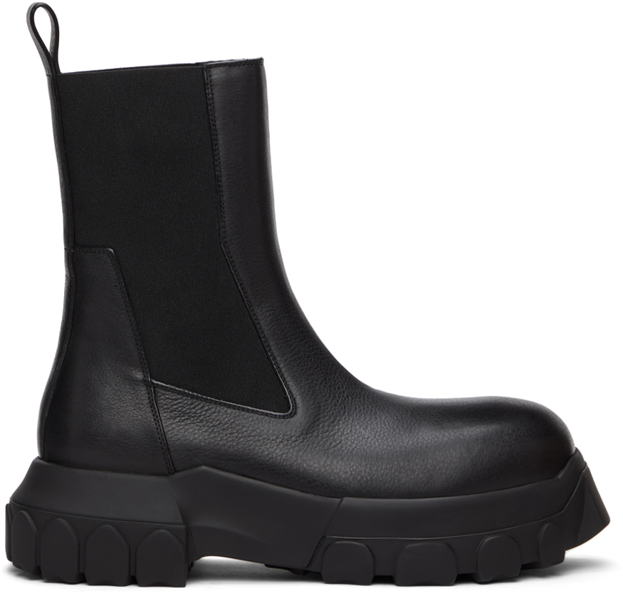 Rick Owens 黑色 Beetle Bozo Tractor 切尔西靴