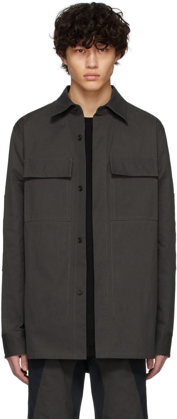 Bottega Veneta 灰色 & 海军蓝衬衫夹克