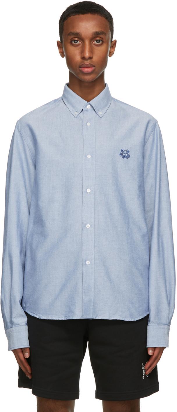 Kenzo 蓝色 Tiger 衬衫