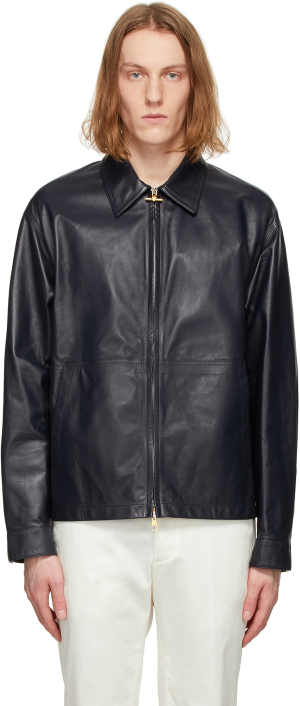 Dunhill 黑色 Work 皮革夹克