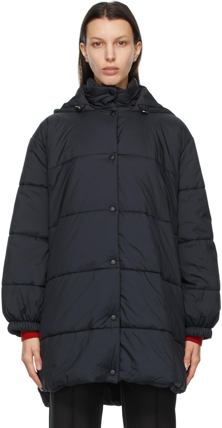 Givenchy 黑色徽标填充大衣