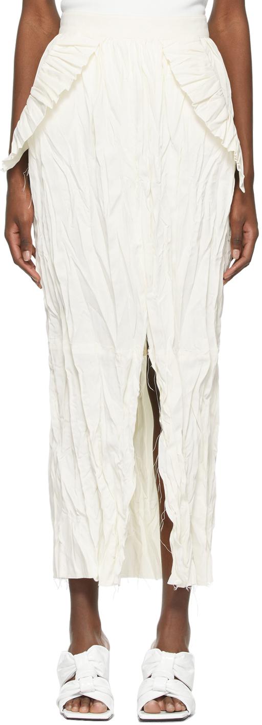 Recto 灰白色褶皱半身裙