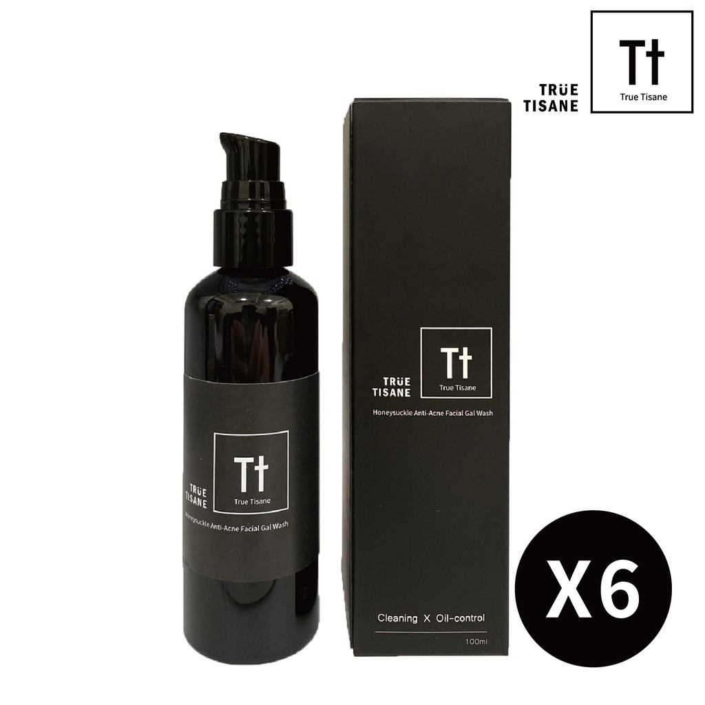 【TRUE TISANE】金銀花淨化毛孔潔面凝露 6瓶組 抗痘控油 調理粉刺 