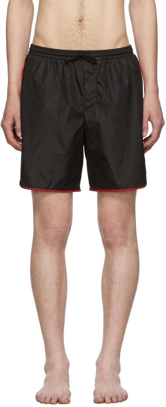 Gucci 黑色 GG 泳裤