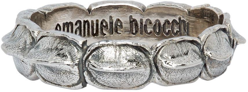 Emanuele Bicocchi 银色 Croc 戒指