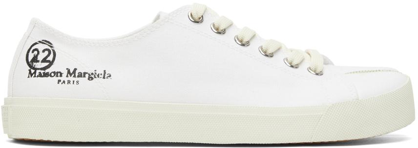Maison Margiela 白色 Tabi 帆布运动鞋