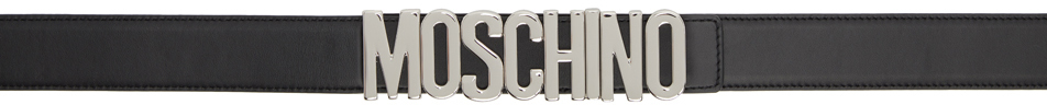 Moschino 黑色徽标腰带