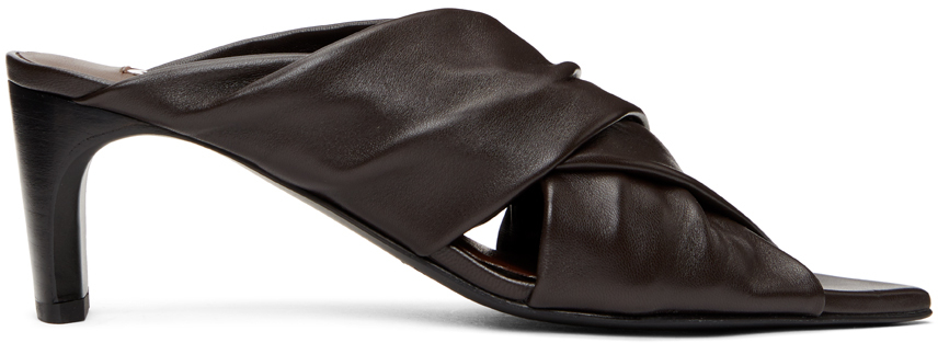 Jil Sander 棕色 Wrapped 凉鞋