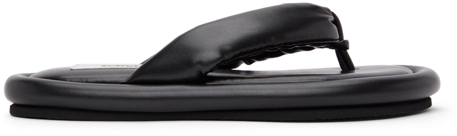 MM6 Maison Margiela 黑色软垫拖鞋