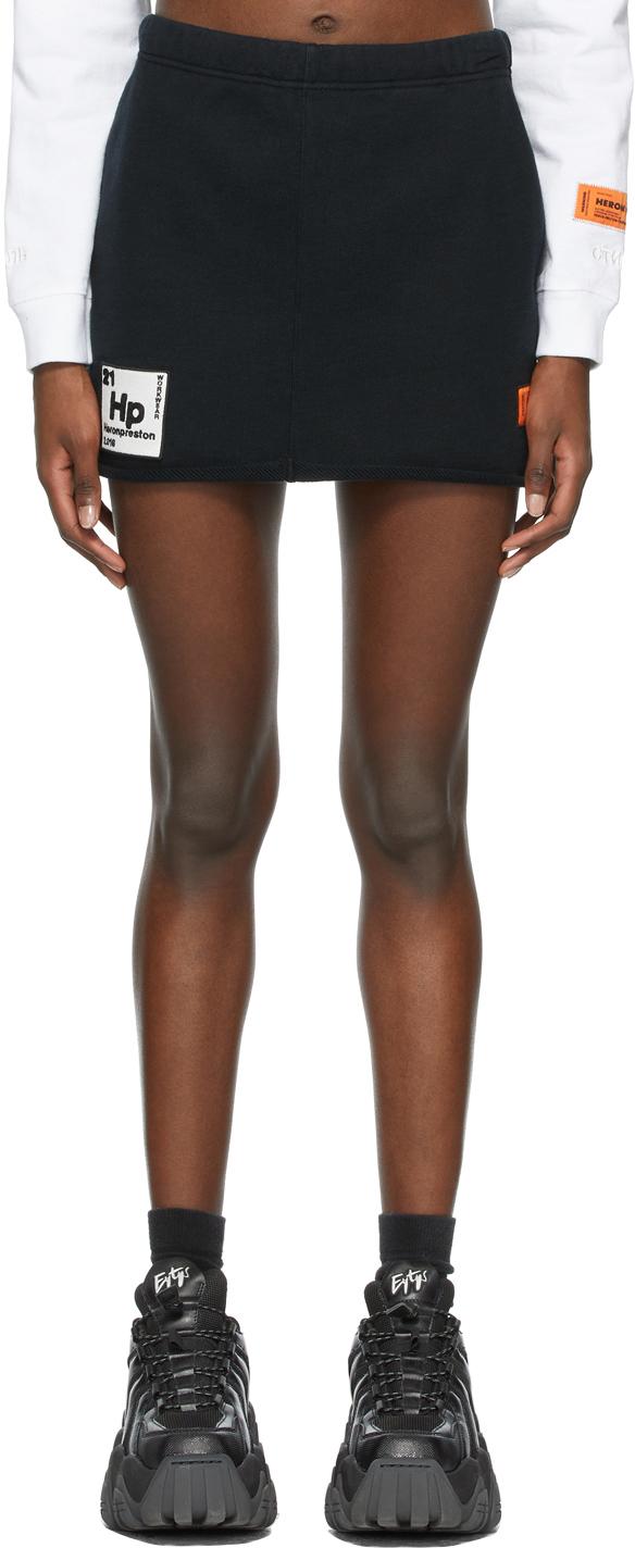 Heron Preston 黑色 Periodic Sweatskirt 短裙