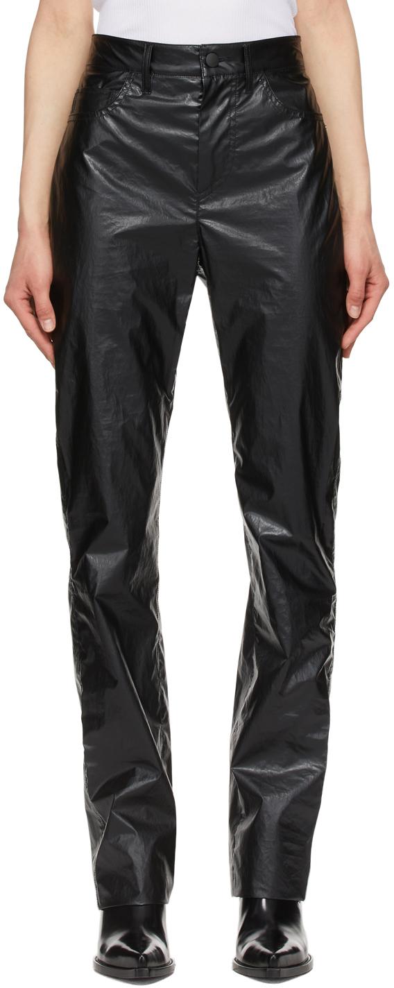Sportmax 黑色 Bella 涂层长裤