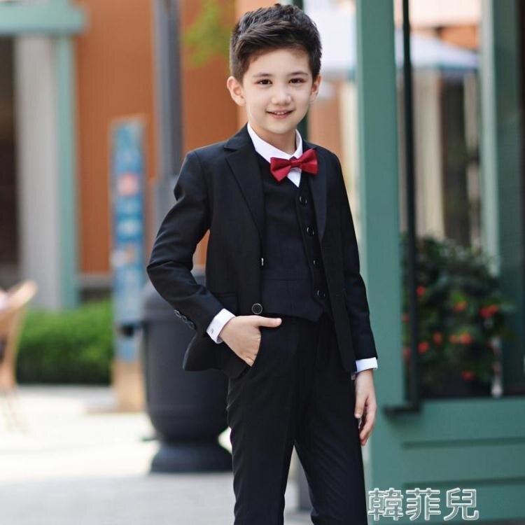 兒童西裝 男童伴兒童裝小西裝套裝西服帥氣花童禮【韓尚優品】