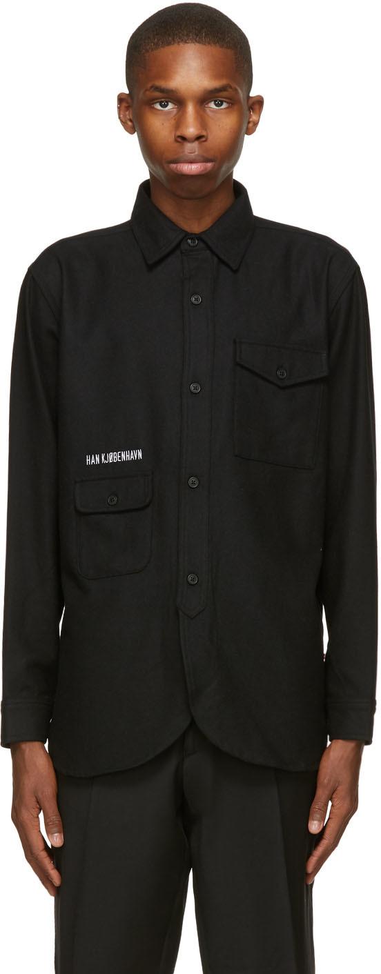 Han Kjobenhavn 黑色 Army 衬衫