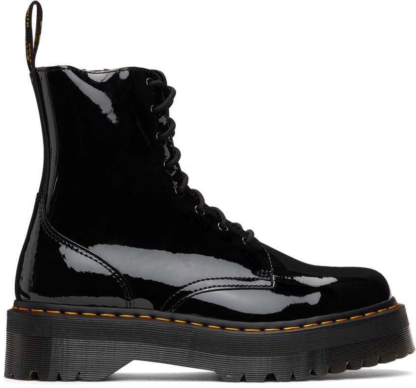 Dr. Martens 黑色 Jadon 漆皮踝靴