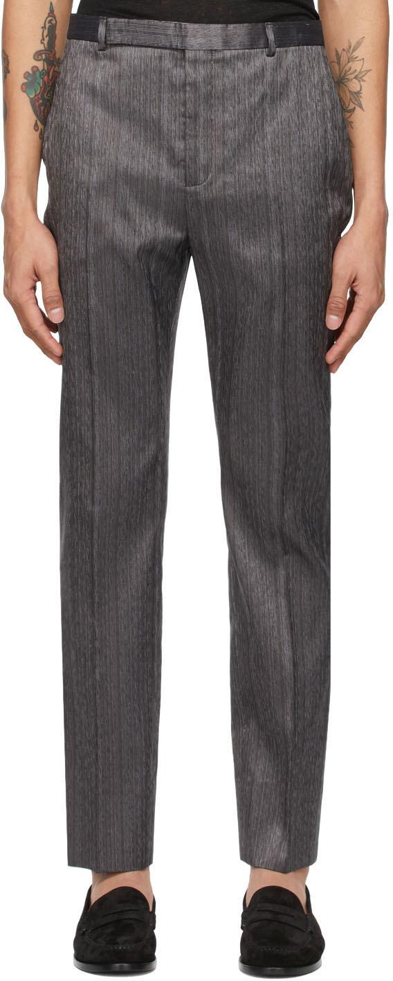 Saint Laurent 银色 Flammé Shantung 长裤