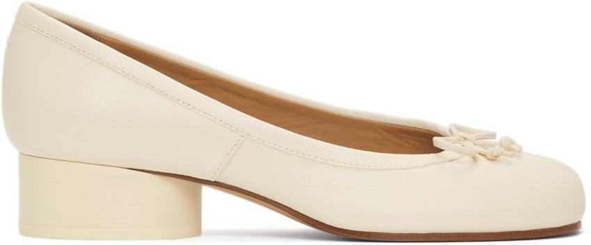 Maison Margiela 白色 Tabi Ballerina 低跟鞋