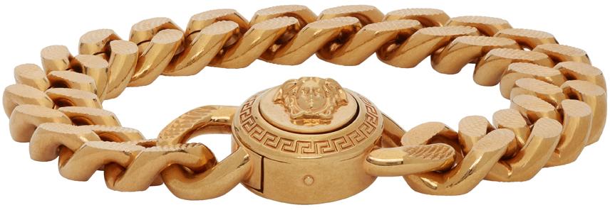 Versace 金色 Large Chain Medusa 手链
