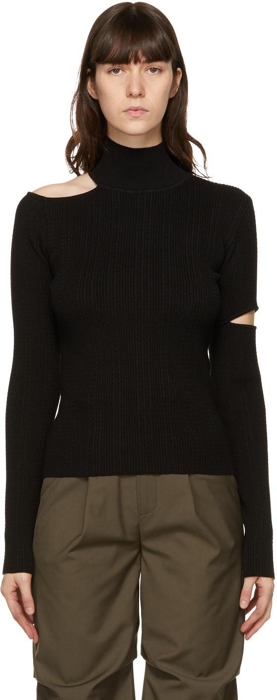 Andersson Bell SSENSE 独家发售黑色 Jessica 针织衫