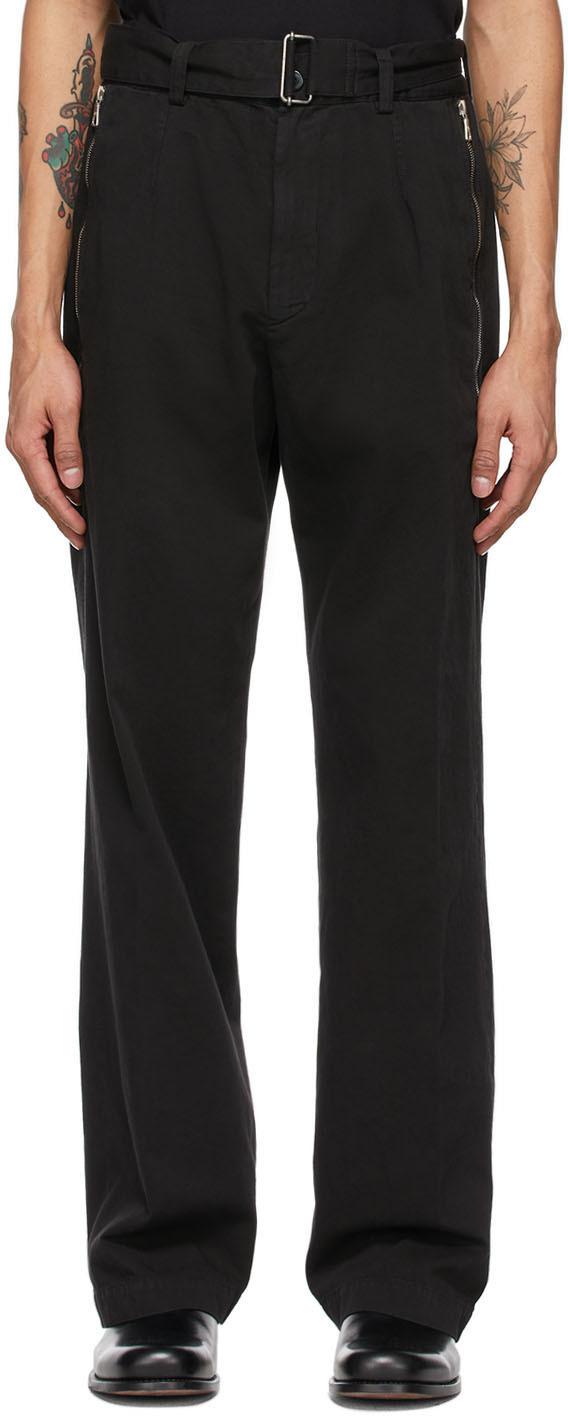 Dries Van Noten 黑色束带长裤