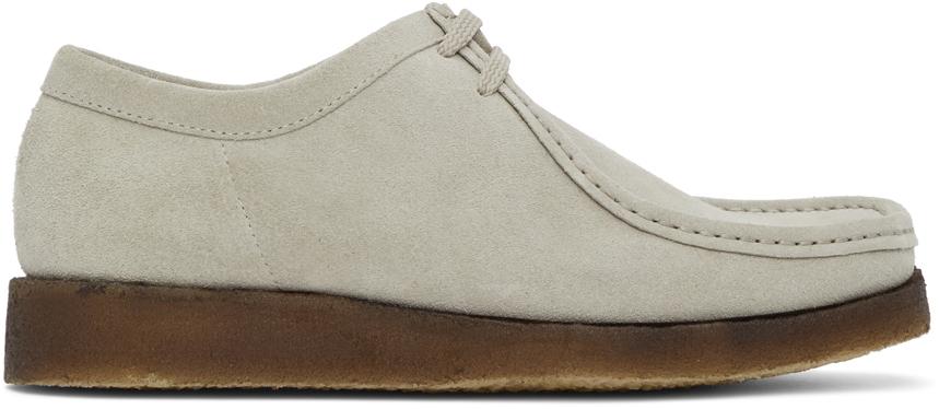 Padmore & Barnes SSENSE 独家发售灰色 Original P204 绒面革莫卡辛鞋