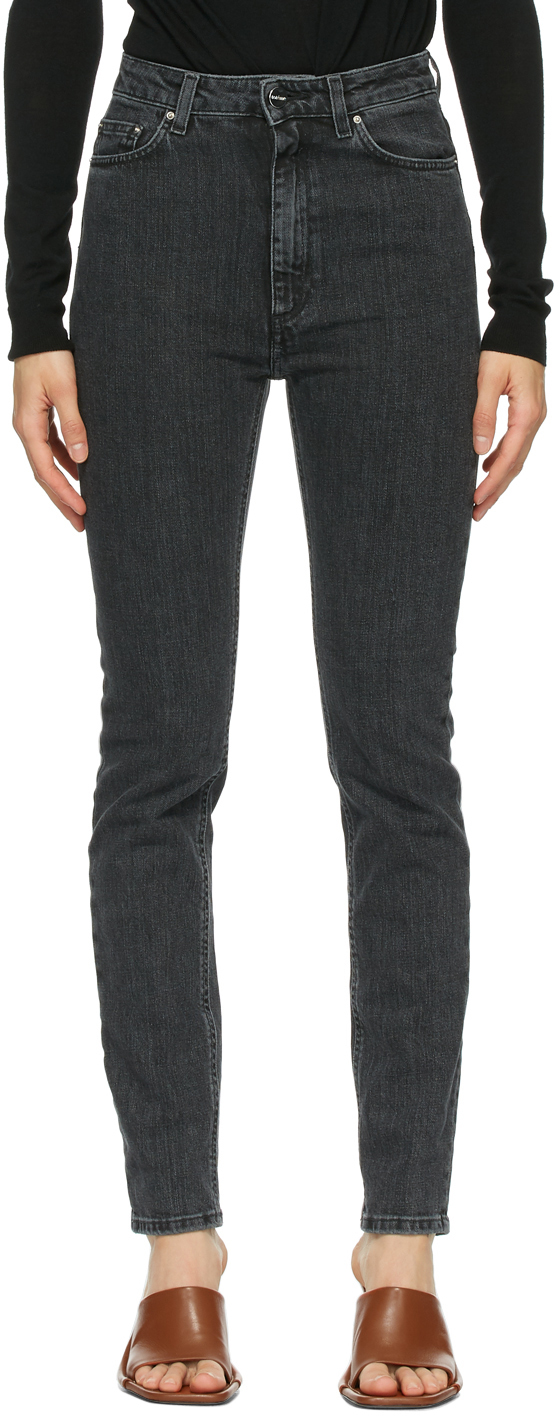 Totême 灰色紧身牛仔裤