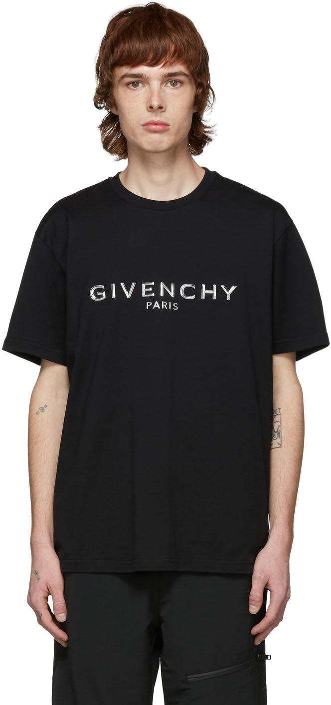 "Givenchy 黑色""Paris"" T 恤"