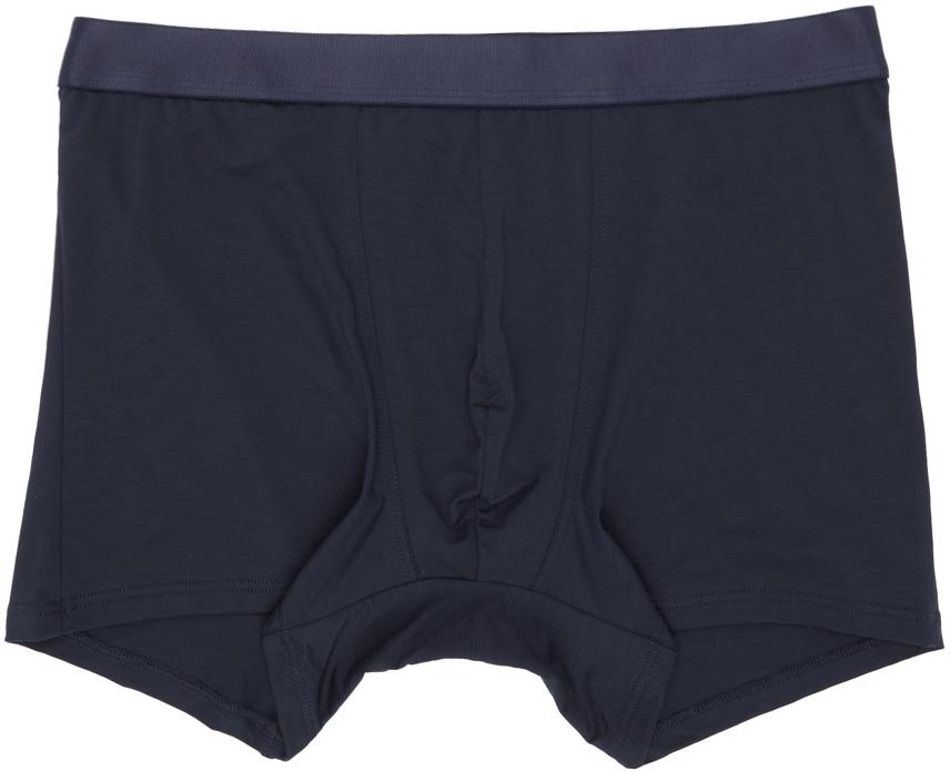 CDLP 三件装海军蓝徽标平角内裤