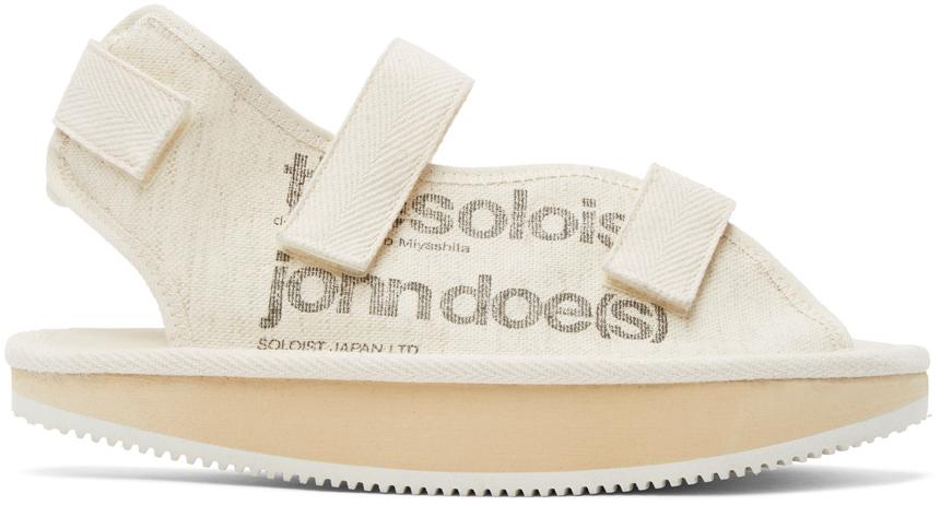 TAKAHIROMIYASHITA TheSoloist. 灰白色 Suicoke 联名 Moon Shaped 凉鞋