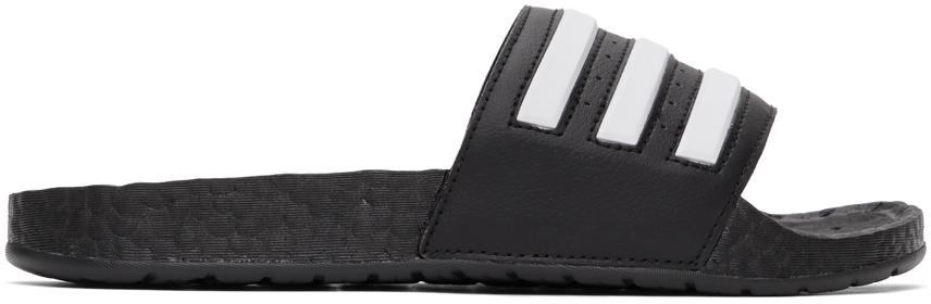 adidas Originals 黑色 Adilette Boost 拖鞋
