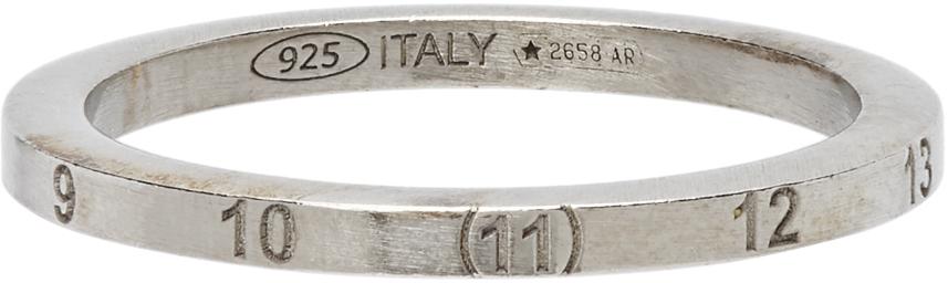 Maison Margiela 银色 Numbers 窄版戒指