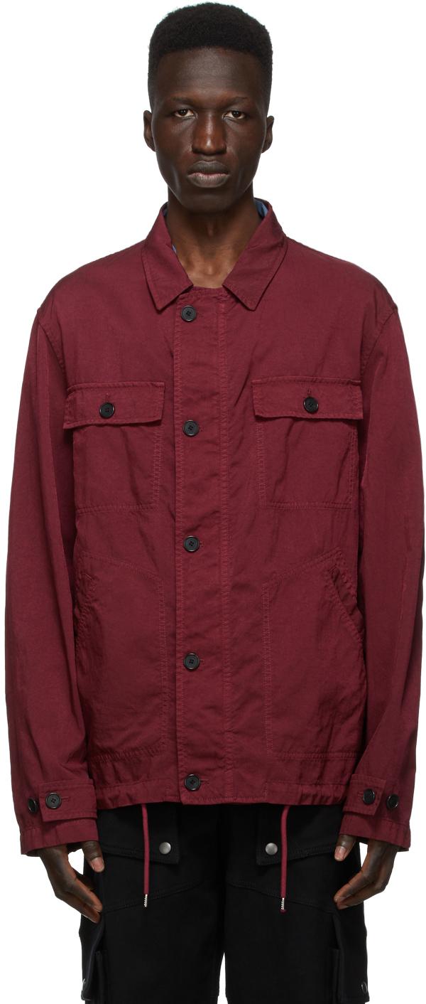 Kenzo 酒红色 Workwear 夹克