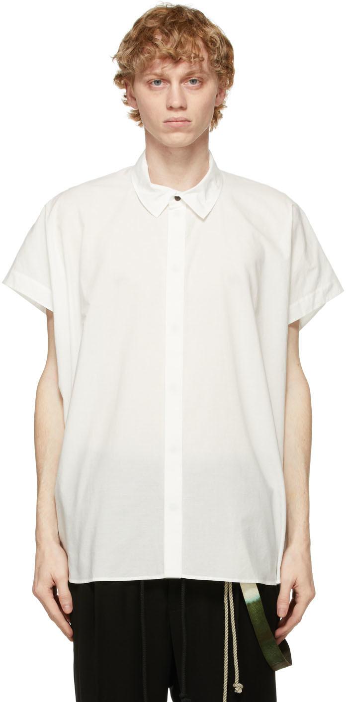 Jan-Jan Van Essche 灰白色 Loose Fit 短袖衬衫