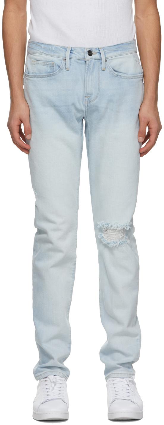 FRAME 蓝色 L'Homme Skinny 牛仔裤