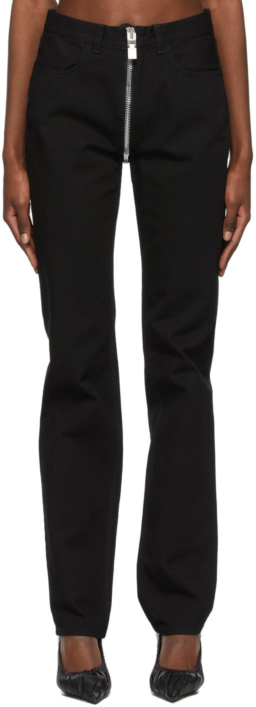 Givenchy 黑色 Integral Zip 牛仔裤