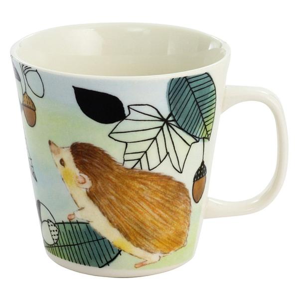 【日本製】毛茸茸樂園系列 瓷器馬克杯  刺蝟圖案 SD-6939 - 日本製