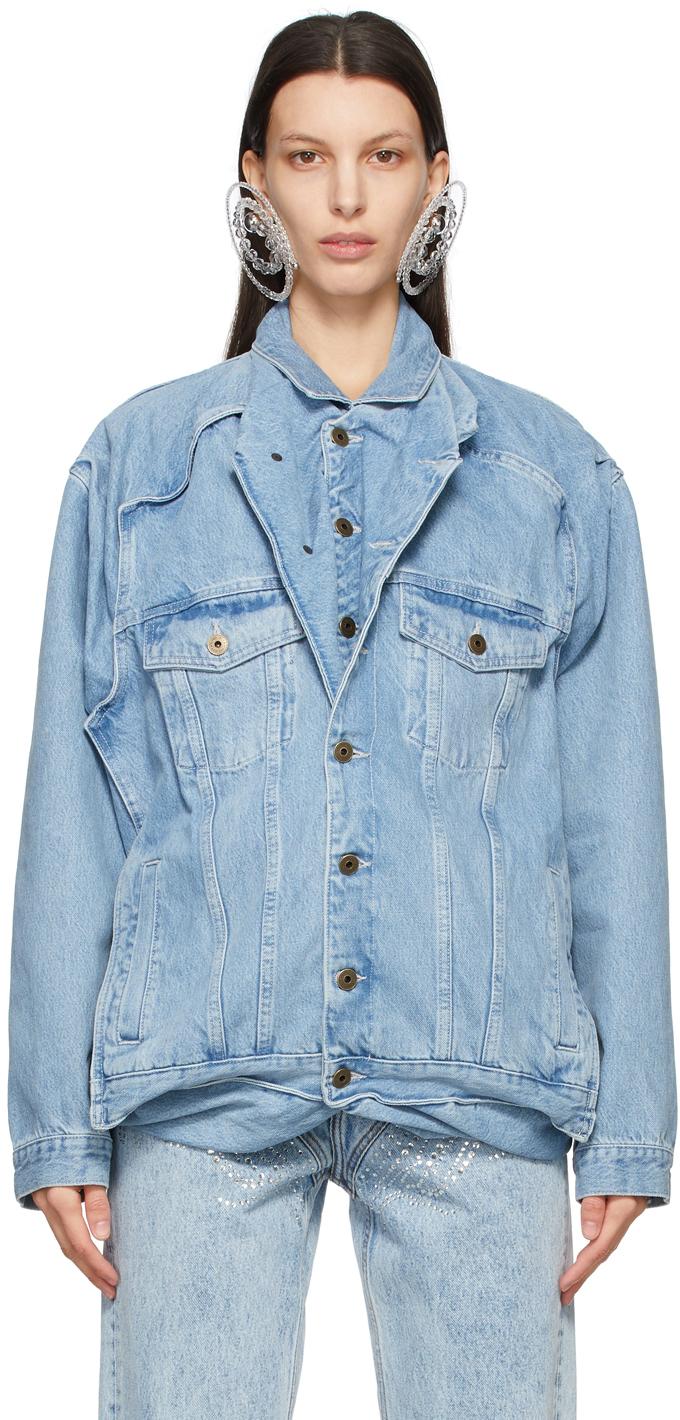 Y/Project SSENSE 独家发售蓝色 Pop-Up 牛仔夹克