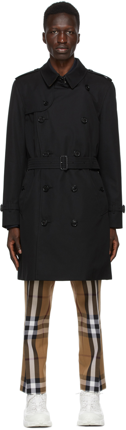 Burberry 黑色 Kensington 风衣
