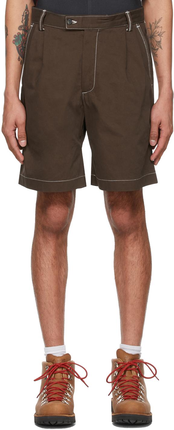 Phipps 棕色 Dad 有机棉短裤