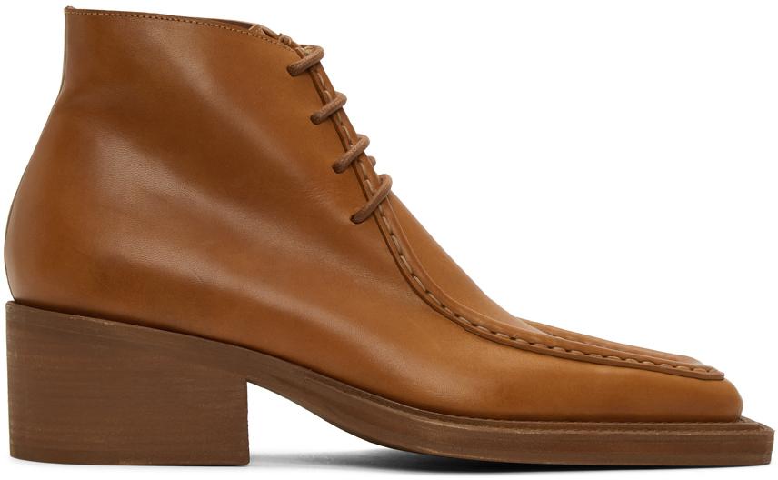 Y/Project 黄褐色 Duck Bill 踝靴