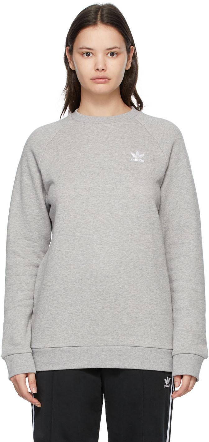 adidas Originals 灰色 Trefoil Essentials 套头衫