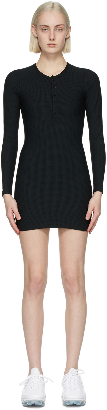 Gil Rodriguez SSENSE 独家发售黑色 Thermal Henley 连衣裙