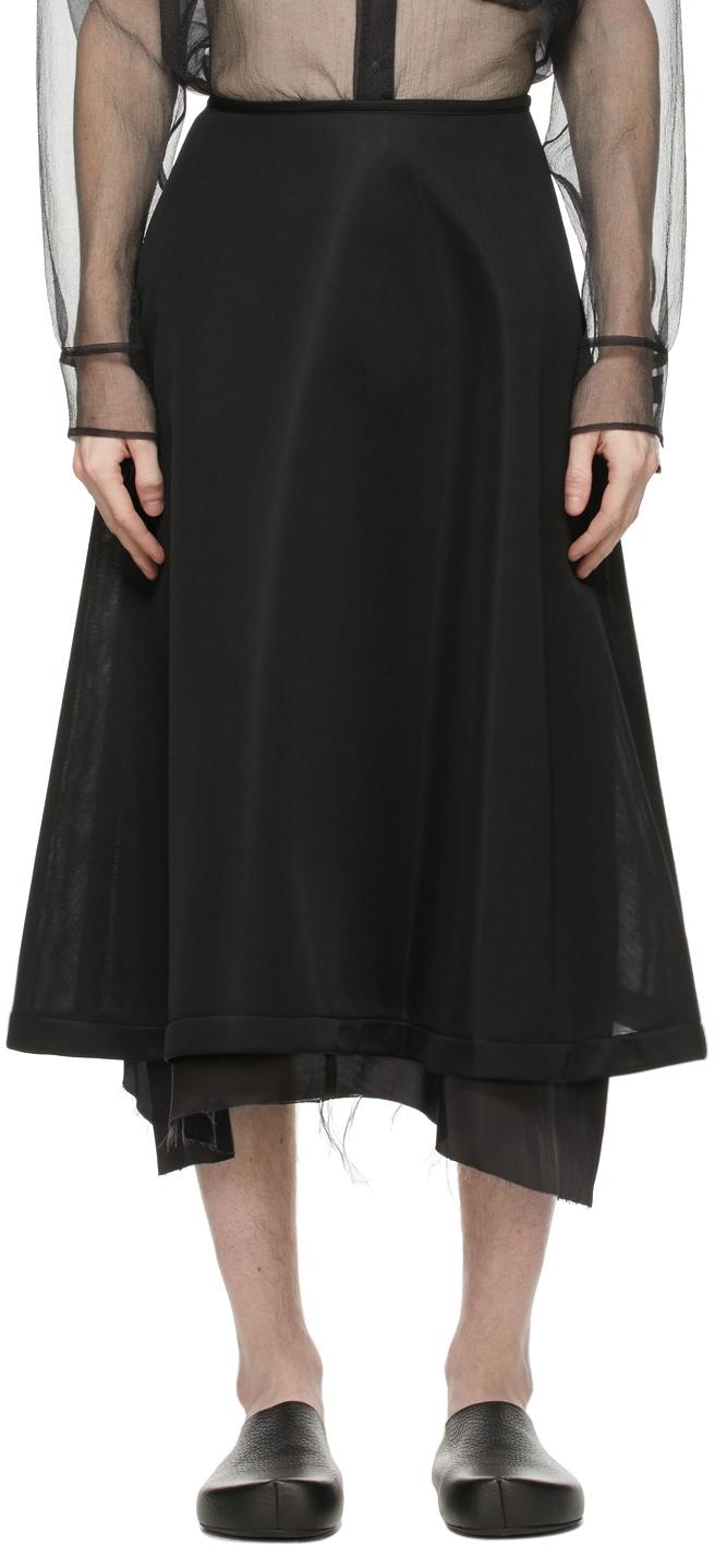 Sulvam 黑色喇叭半身裙