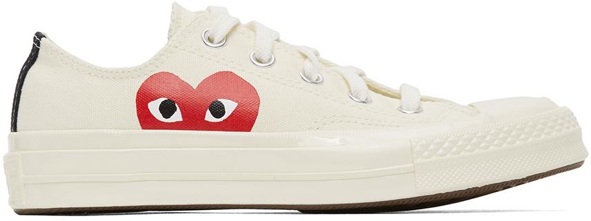 Comme des Garçons Play 灰白色 Converse 联名 Chuck 70 Half Heart 运动鞋
