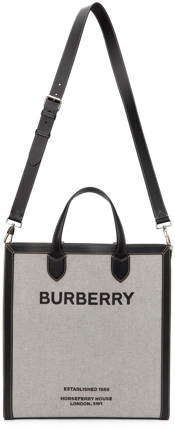 Burberry 灰色 Horseferry Print 托特包