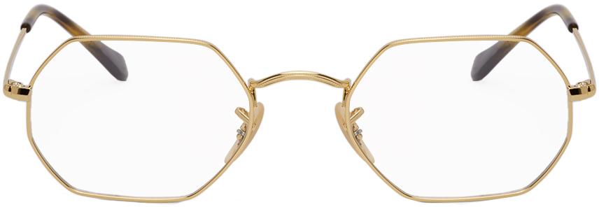 Ray-Ban 金色 Hexagonal Icons 眼镜