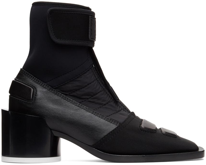MM6 Maison Margiela 黑色 Moto 踝靴