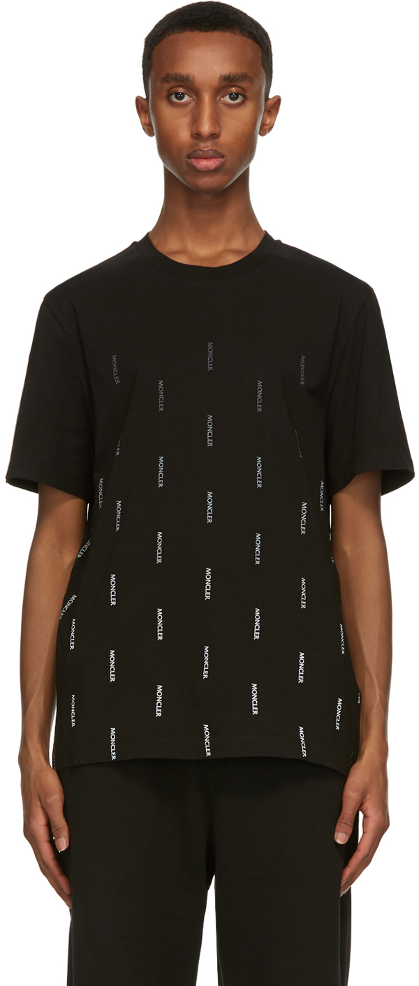 Moncler 黑色 Fade Logo T 恤