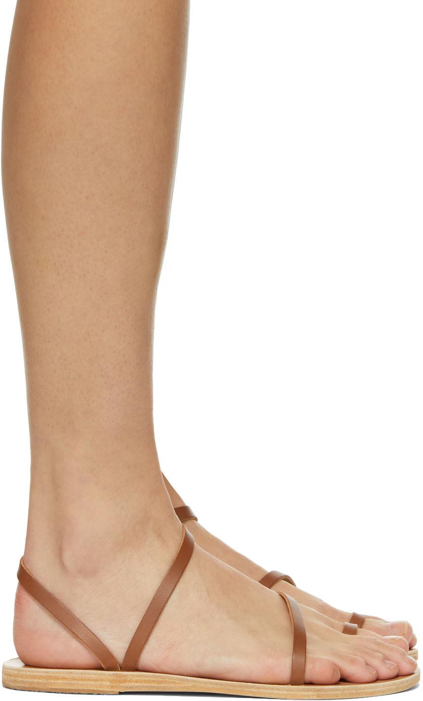 Ancient Greek Sandals SSENSE 独家发售棕色 Apli Eleftheria 凉鞋