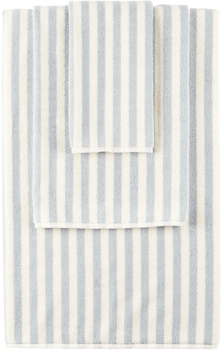 Tekla SSENSE 独家发售灰白色 & 蓝色条纹毛巾套装