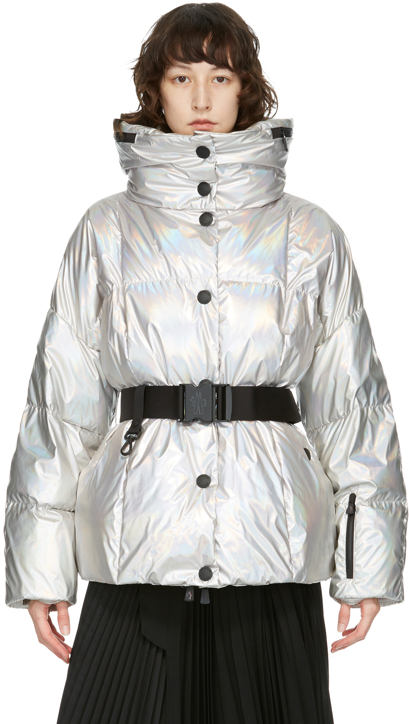 Moncler Grenoble 银色金属感羽绒夹克